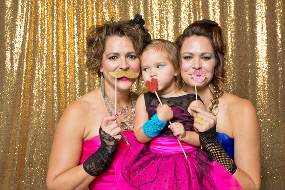Golden 80's Gala - Photo Booth - No Swoosh